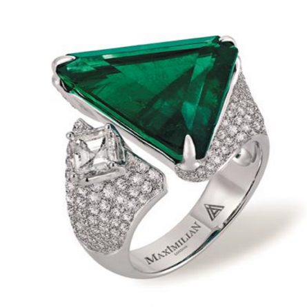 NATURAL COLOMBIAN EMERALD AND DIAMOND RING