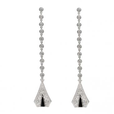 DIAMOND & ONYX EARRINGS