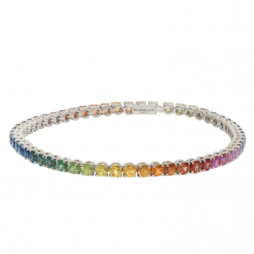 "NATURAL ""RAINBOW"" COLORS SAPPHIRES BRACELET"