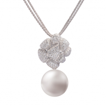 DIAMOND & PEARL PENDANT