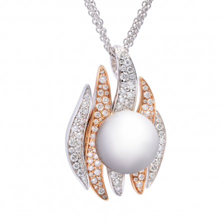 DIAMOND & PEARL PENDANT