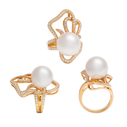 DIAMOND & PEARL RING
