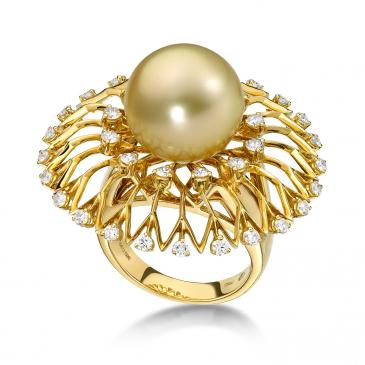 DIAMOND & PEARL RING