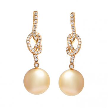 DIAMOND & PEARL EARRING