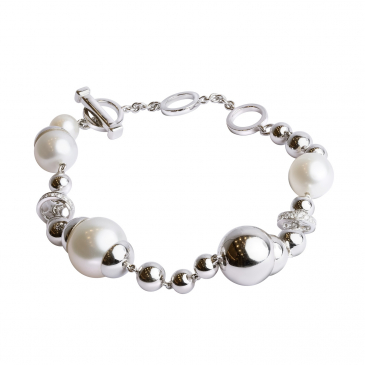 DIAMOND & PEARL BRACELET