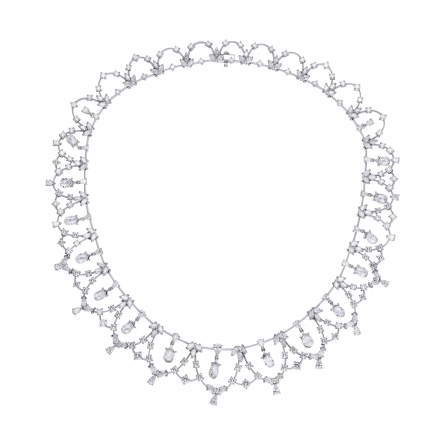 Diamond Briollete Necklace