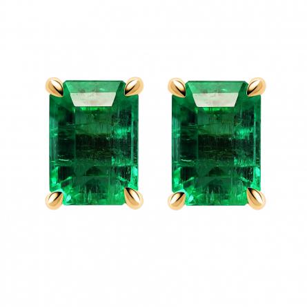 Natural Emerald Earstud