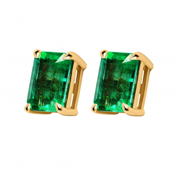 Natural Emerald Earstud
