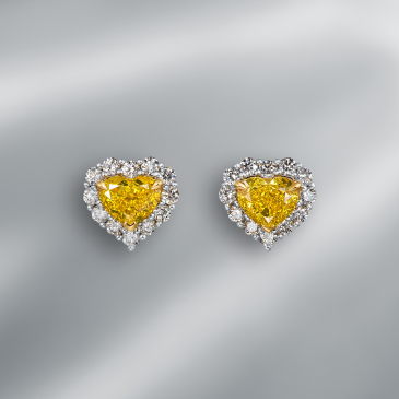 NATURAL FANCY VIVID  YELLOW EARSTUDS