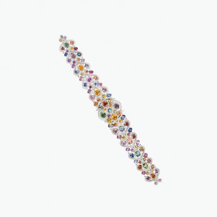 Natural fancy sapphire & diamond bracelet