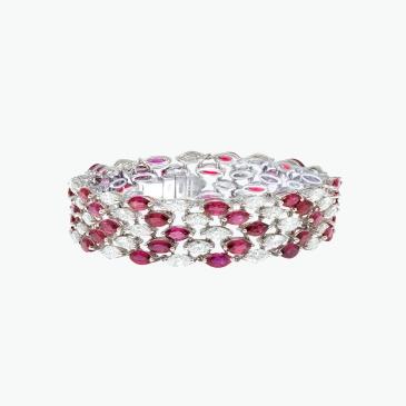 Natural Ruby and Diamond Bracelet